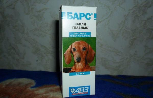 Глазные капли для собак Барс