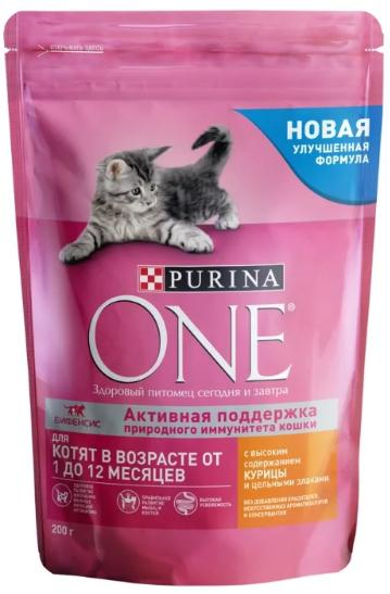 Корм Purina One для котят